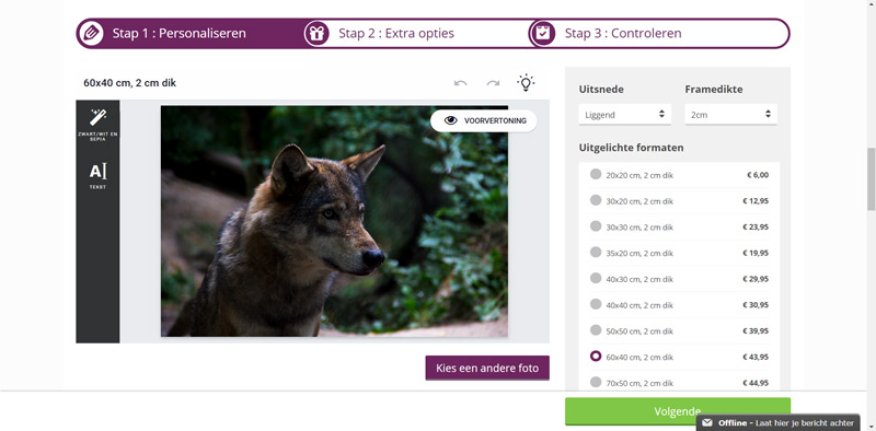 CanvasCompany, canvas, foto op canvas, review, fotografie, wolf, Tini Groen